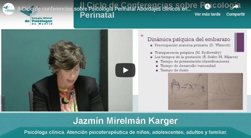 II Ciclo de conferencias sobre Psicología Perinatal Abordajes clínicos en el embarazo.