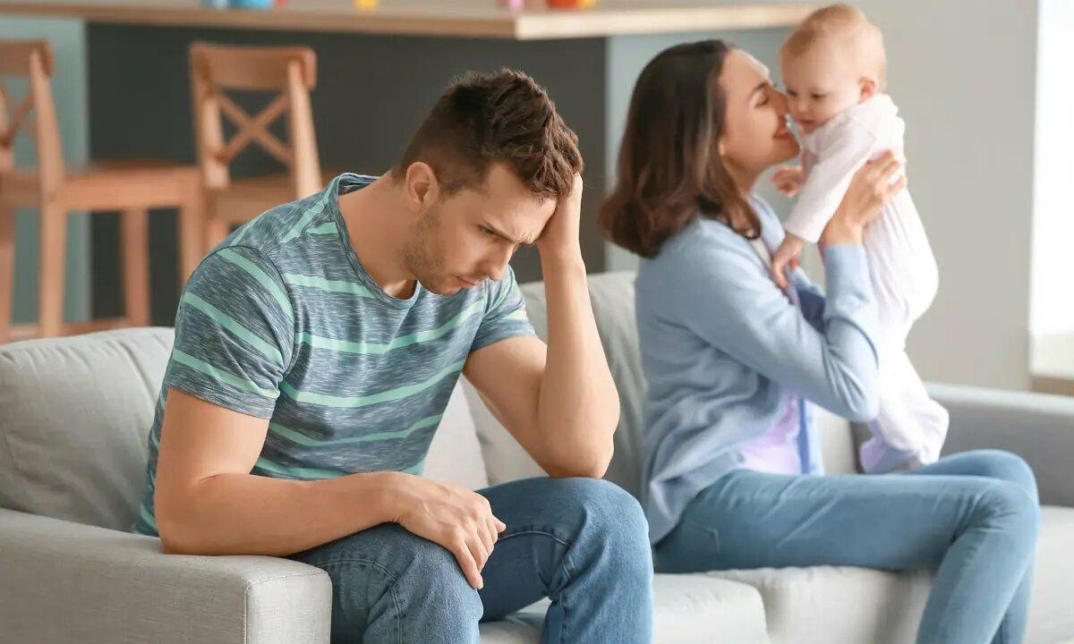 ¿Cómo se manifiesta la depresión postparto en hombres?